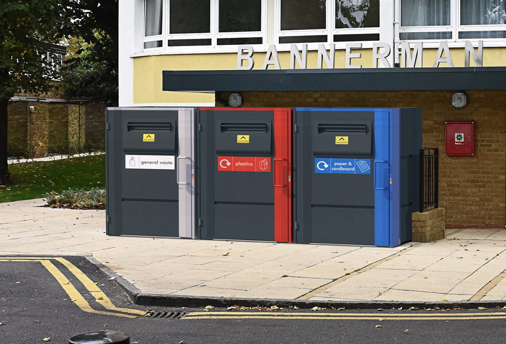 Residential fire rated bin stores - metroSTOR QF