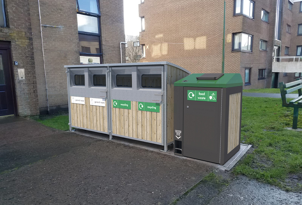 Food bin storage and waste collection unit - metroSTOR FWD