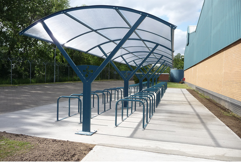 Double row symmetric cycle shelter - CENTAUR CLS