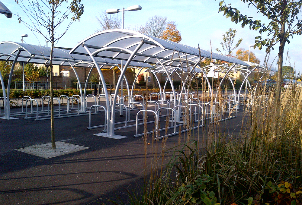 Cycle shelters double row symmetric - CENTAUR CLS