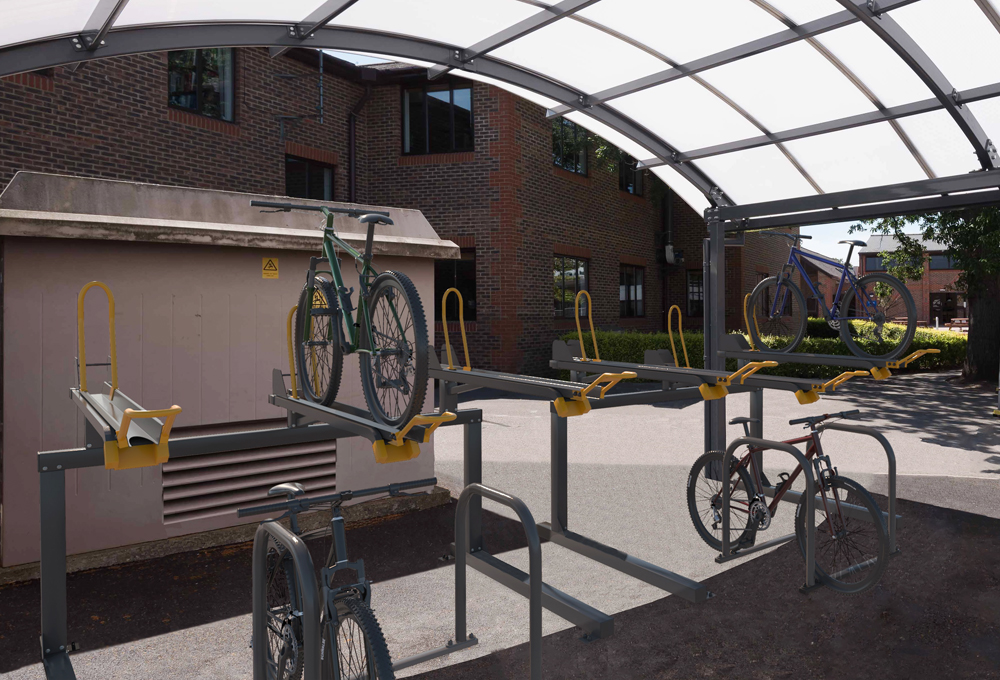 Two tier cycle racks for residentials - CENTAUR TTR