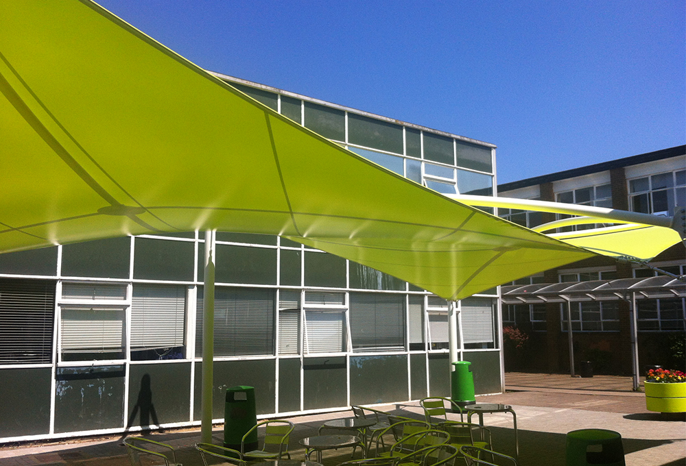 Green fabric canopy - ORION Hypar