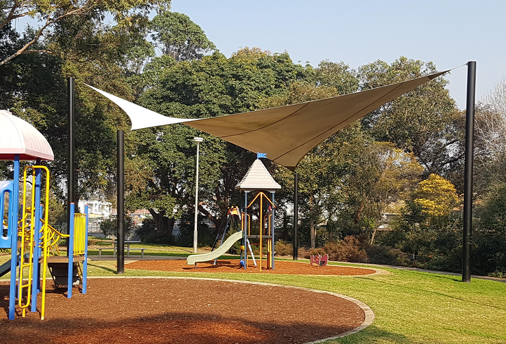 White shade sail canopy - ORION Hypar